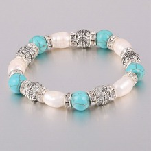 Natural Freshwater 8-9 mm Pearl Bracelet with Stone High Quality Pearl Bracelets for Women браслет pearl 8 16 5star mm