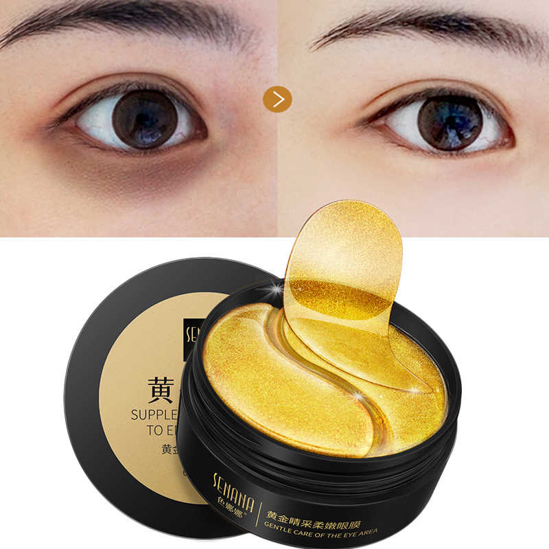 60 Pcs Crystal Collagen Eye Patch Anti-Wrinkle Emas Masker Mata Gel Mata untuk Mata Perawatan Esensi Pelembab Lingkaran Hitam penghapusan Masker