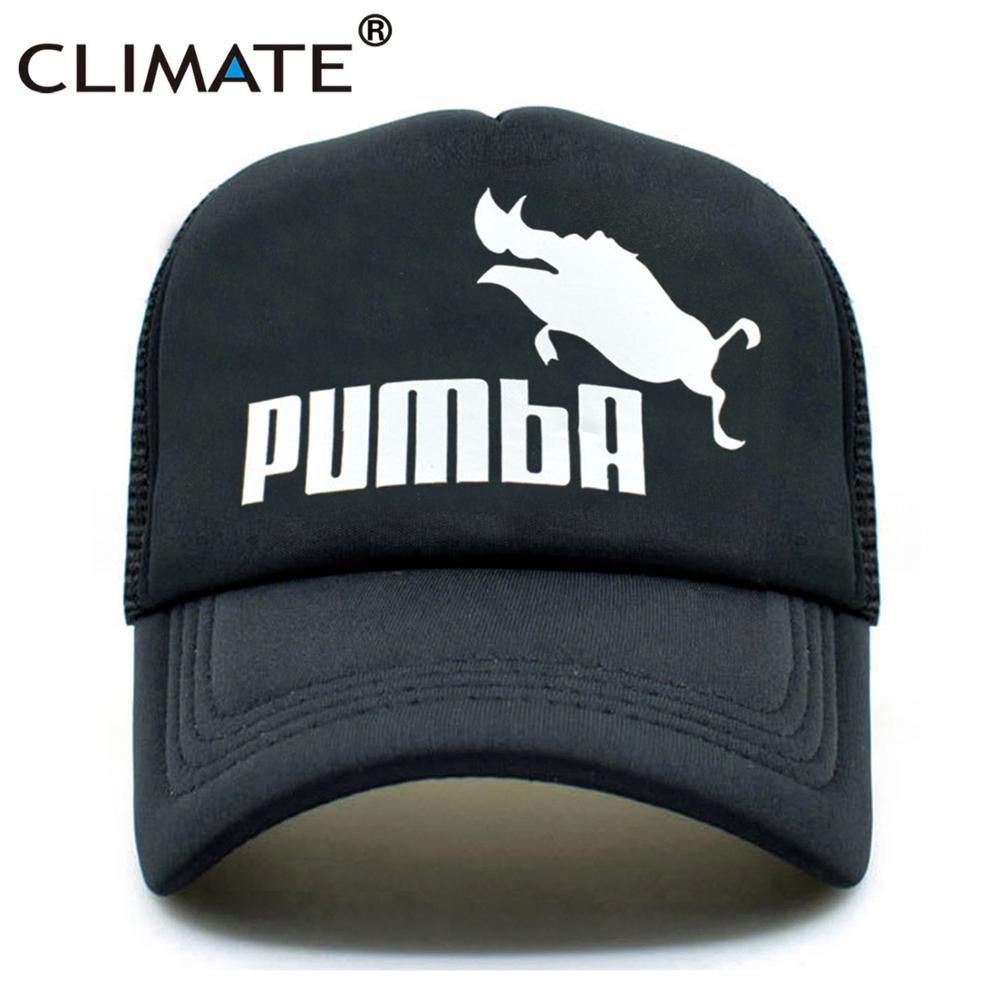 a6006ea1aee13 CLIMATE Trucker Cap Baseball Caps Lion King Funny Cap Hat Men Pumba Hakuna  Matata Cool Summer
