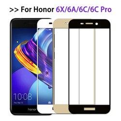 Защитное стекло для Huawei Honor 6c pro Чехол полное покрытие Защита экрана для Honor 6x 6a Закаленное стекло пленка honor6 6 a c x