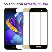 Funda protectora de cristal para Huawei Honor 6c pro, Protector de pantalla de cubierta completa para Honor 6x 6a, película de vidrio templado honor6 6 a c x