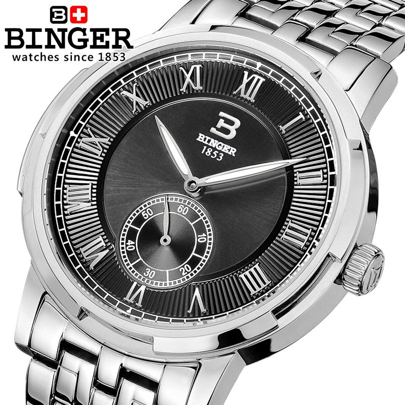 Sapphire Switzerland Men Watch Automatic Mechanical Binger Luxury Brand Men's Watches Waterproof Wrist Watches Male gold B5037 switzerland binger watch men 2017 luxury brand automatic mechanical men s watches sapphire wristwatch male reloj hombre b1176g