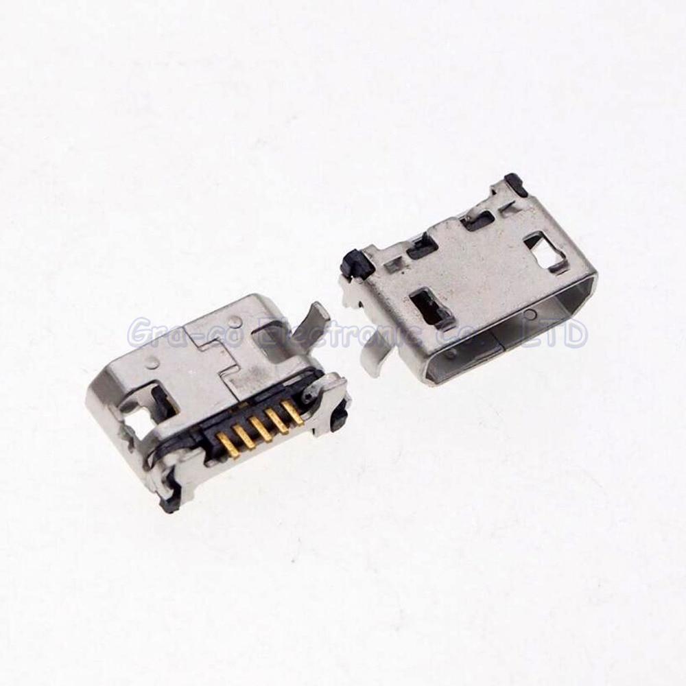 50pcs Usb Jack Connector Charging Port For Lenovo A788t S930 A3500 16gb Midnight Blue A656 A370 S390 A388t A3000 H Etc Tail Plug