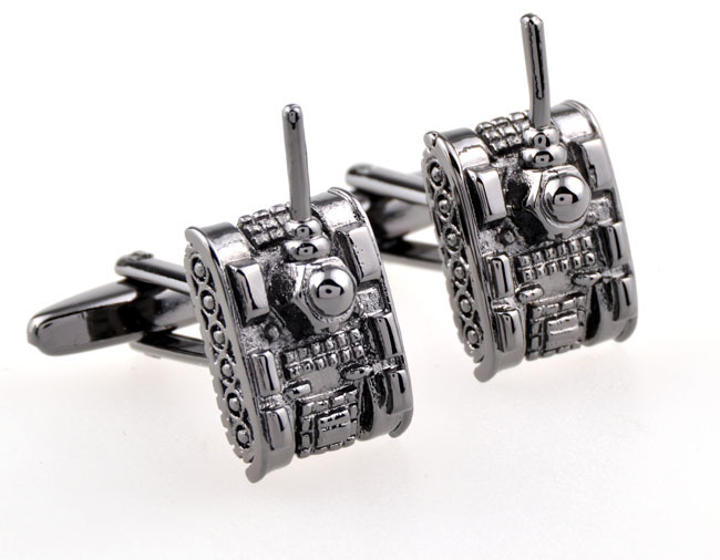 Lepton Copper Tank Design Cufflinks,high-quality Army Fans Gift cuff links for men's,Free Shipping