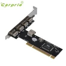 CARPRIE USB 2.0 4 Порт 480 Мбит/С Высокой Скоростью ЧЕРЕЗ КОНЦЕНТРАТОР PCI Контроллер Карты Адаптер Jan16 MotherLander