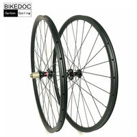 BIKEDOC 27mm*23mm Carbon Wheels Mtb 27.5er And 29er Clincher Tubuless Compatible Mtb Wheelset 29er Ruedas Mtb