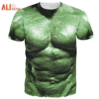 Alisister New 3d Incredible Hulk   T  -  Shirt   Comics Super Hero Hulk   T     Shirt   Men Women Sexy Muscle   T     Shirts   Summer Basic Top Clothing