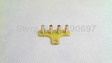 DIY Projects Audio Tag Strip/Tag Board/Turret Board  4P-T-G(B)  Gold plated Copper  5PCS Free Shipping цена 2017