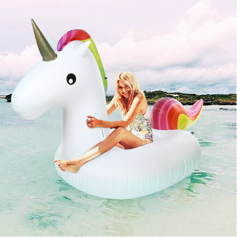 Air Mattresses Air Sofa Inflatable Giant Unicorn Floating Rideable Swimming Pool Toy Float Raft