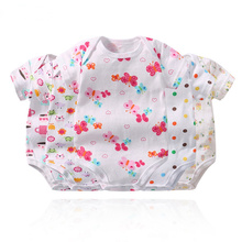 5 pcs/lot Infant Clothing Baby Romper Short Sleeve Striped