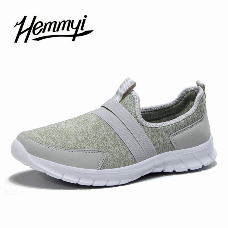 Hemmyi Brand New Women's Shoes Plus Size 41 42 Slip-on Stretch Fabric Fashion Casual Shoes Woman Light Sneakers Flats Loafers 2017 brand new men spring fashion breathable slip on shoes stretch fabric light shoes casual flats jogging loafers shoes wb 36