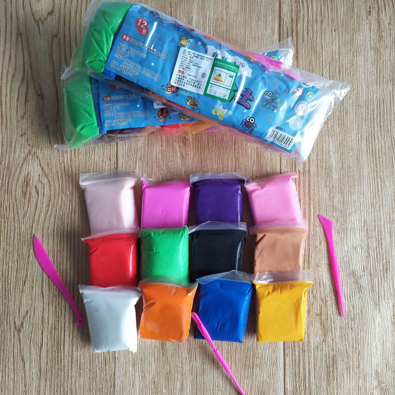 12 couleurs enfants jouets loisirs Air sec argile Super lLight argile polymère Fimo Intelligent pâte à modeler pâte à modeler Slime jouet