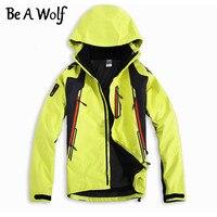 Be A Wolf Winter Hiking Softshell Jackets Men Outdoor Fishing Clothes Camping Skiing RainWindbreaker Waterproof Jacket