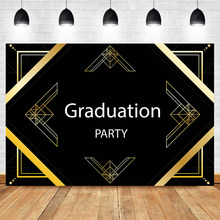 Get more info on the NeoBack 2019 Graduation Photography Background Gatsby Custom Graduation Party Black Photo Background Photophone