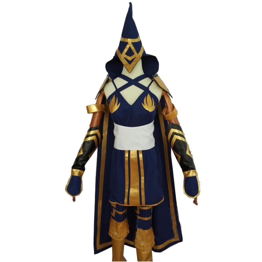 2018 Hot Game LOL Ashe Cosplay Costume Red Riding Uniform Clothes Cosplay Costume set