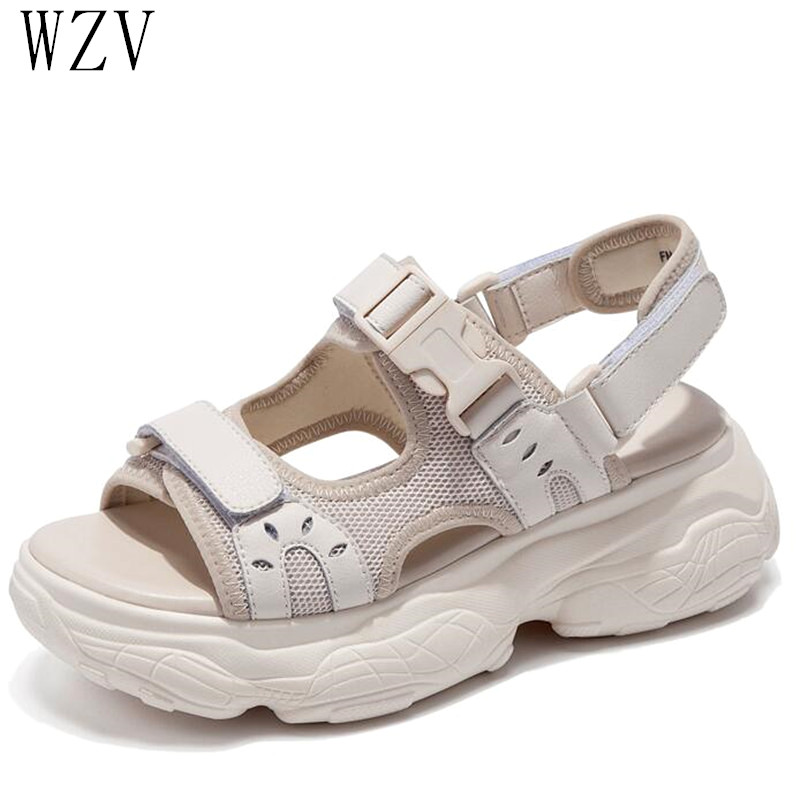 2019 Summer Women Sandals Buckle Design Black Beige Platform Sandals Comfortable Women Thick Sole Sandals Beach Shoes Woman E7952019 Summer Women Sandals Buckle Design Black Beige Platform Sandals Comfortable Women Thick Sole Sandals Beach Shoes Woman E795
