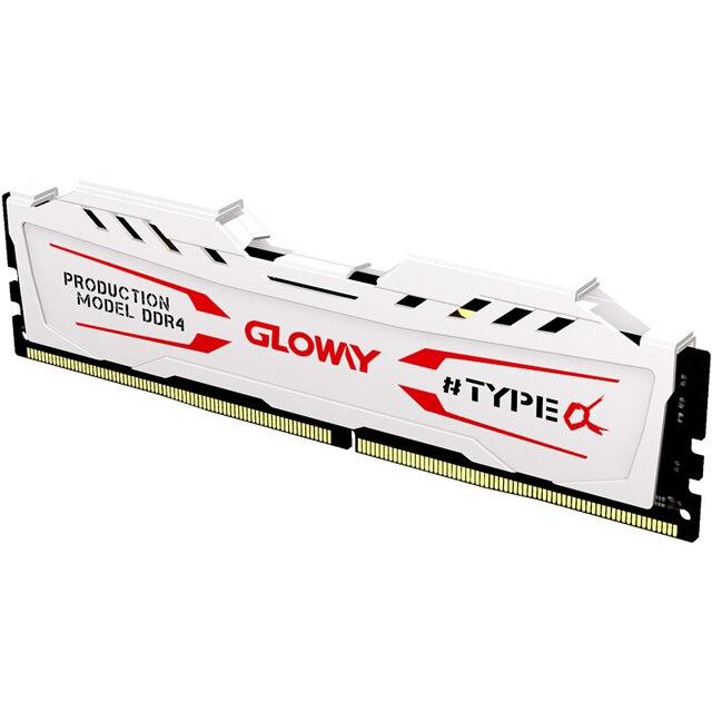 Новое поступление Gloway тип a Серия черный и белый радиатор ОЗУ ddr4 8 Гб 2400 МГц для рабочего стола с высокой производительностью 4