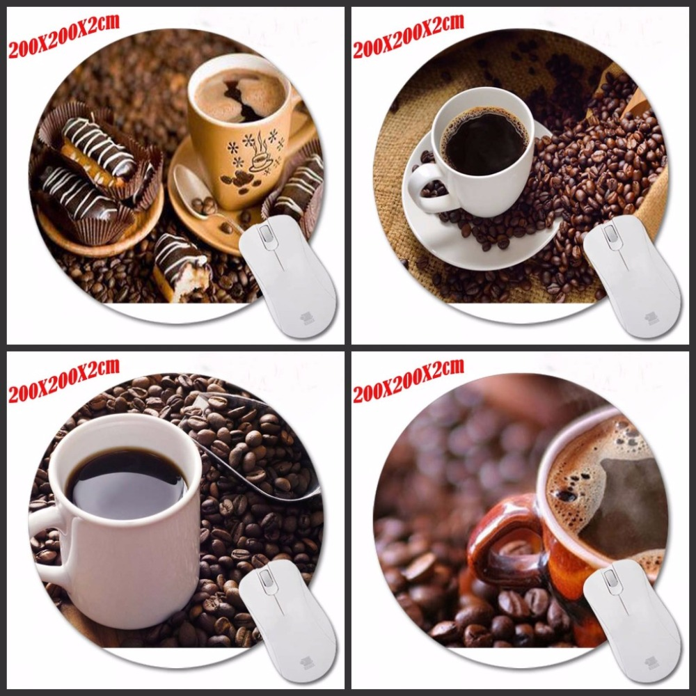 Top Selling Coffee Design Painting Round Mouse Pad Super Hero Series Computer font b Laptop b