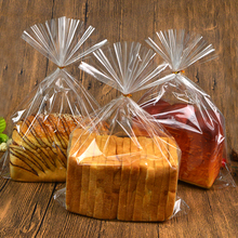 80PCS / Lot Transparent toast bread bag Plastic food packaging bakery Baking Supplies Packaging Party Large