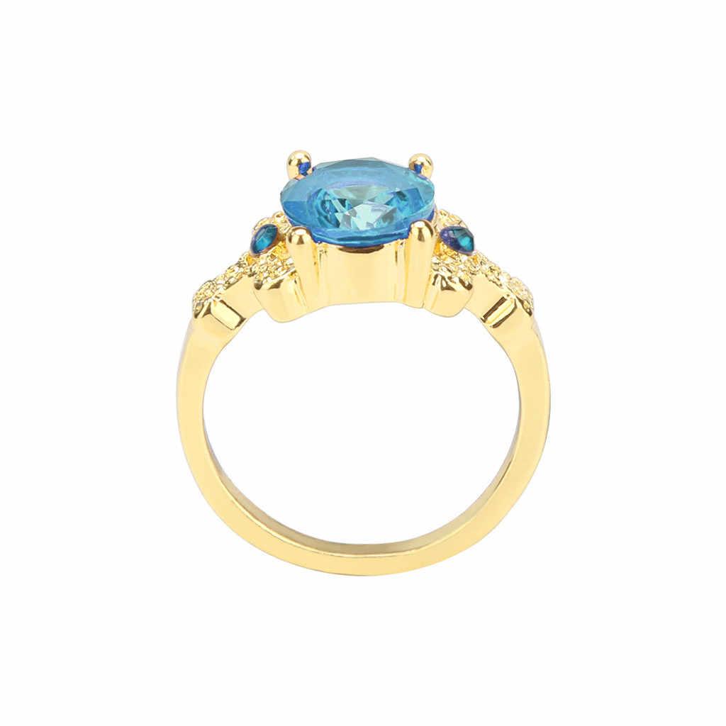 2019 แฟชั่นเครื่องประดับ Gold Filled ของผู้หญิงงานแต่งงานแหวน ringen สำหรับ vrouwen bts แหวน Size6-10 Dropshipping # ZA30