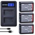 3Pcs NP-FW50 FW50 NPFW50 Battery+LCD Dual USB Charger for Sony a37 Alpha 7 7R II 7S a7S a7R II a5000 NEX-7 DSC-RX10 RX10 II III