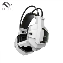 TTLIFE High Quality Gaming Headphones Wired Stereo Surround Deep Bass Game Headset With Mic LED Light for PC computer Gamer