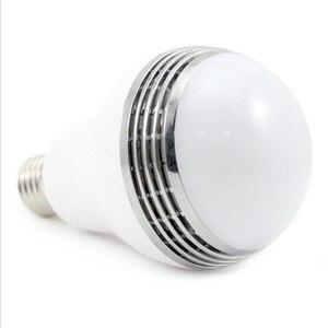 Image 5 - Smart RGB E27 Birne Bluetooth 4,0 Audio Lautsprecher Lampe Dimmbare LED Drahtlose Musik Lampe Licht Farbwechsel über WiFi App control