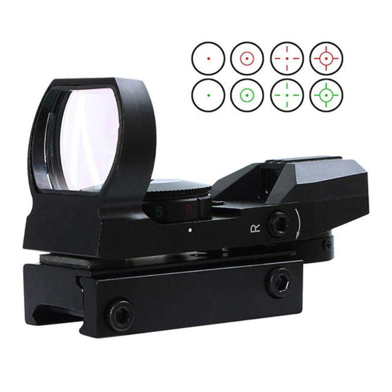 Red Green Dot Sight 20mm Rail Riflescope Hunting Optics Holographic Red Dot Sight Reflex 4 Reticle Tactical Scope Drop Shipping