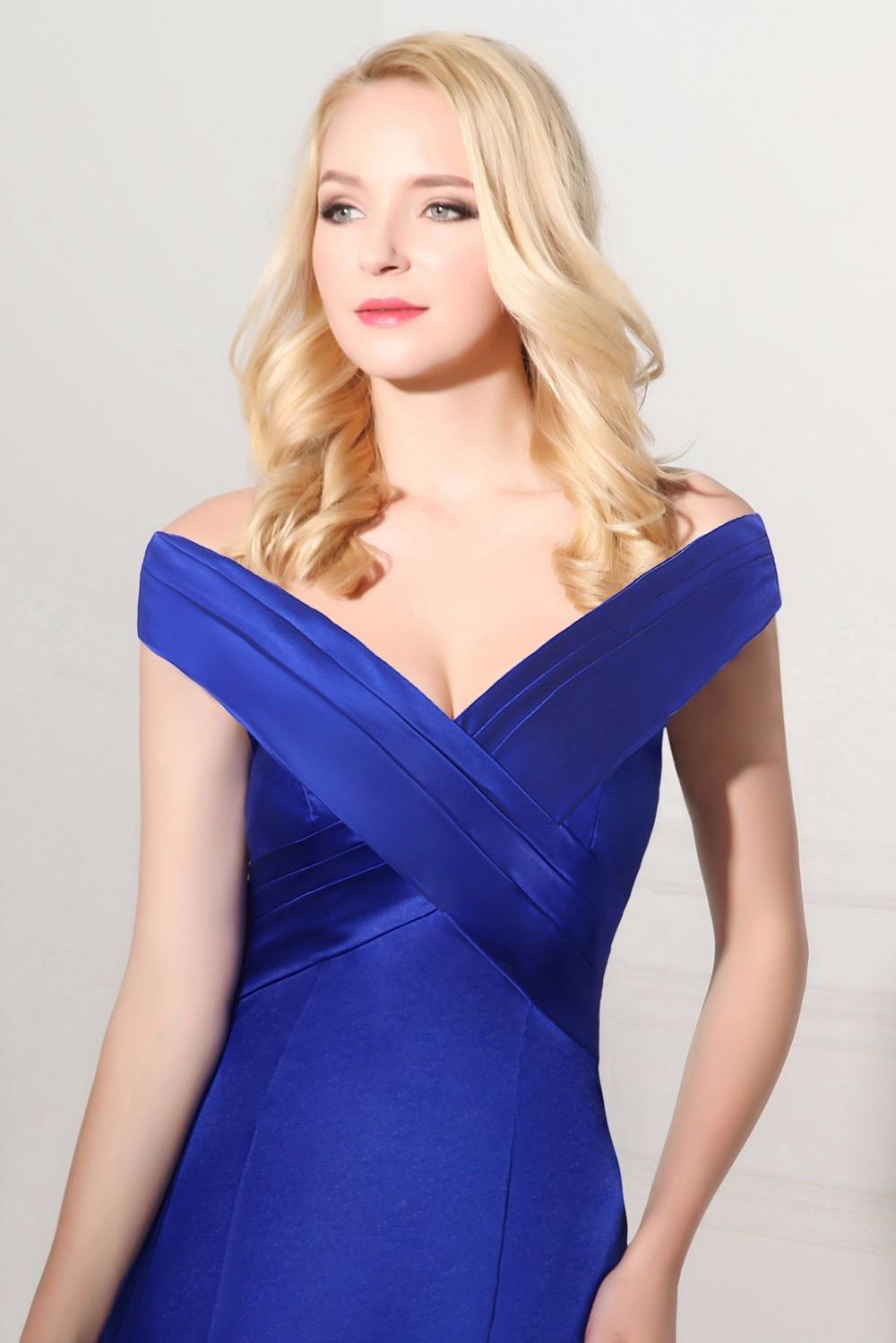 Robe De Soiree Hot Jual Abendkleider Avondjurk Panjang Gaun V-leher - Gaun acara khas - Foto 4