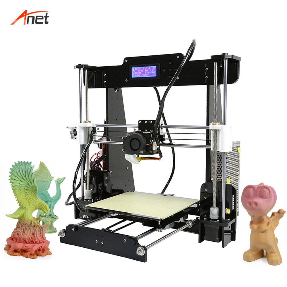 Anet A8 Updated Impressora 3d Auto Bed Leveling Affordable 3d Printer Machine Factory Supply Directly FDM
