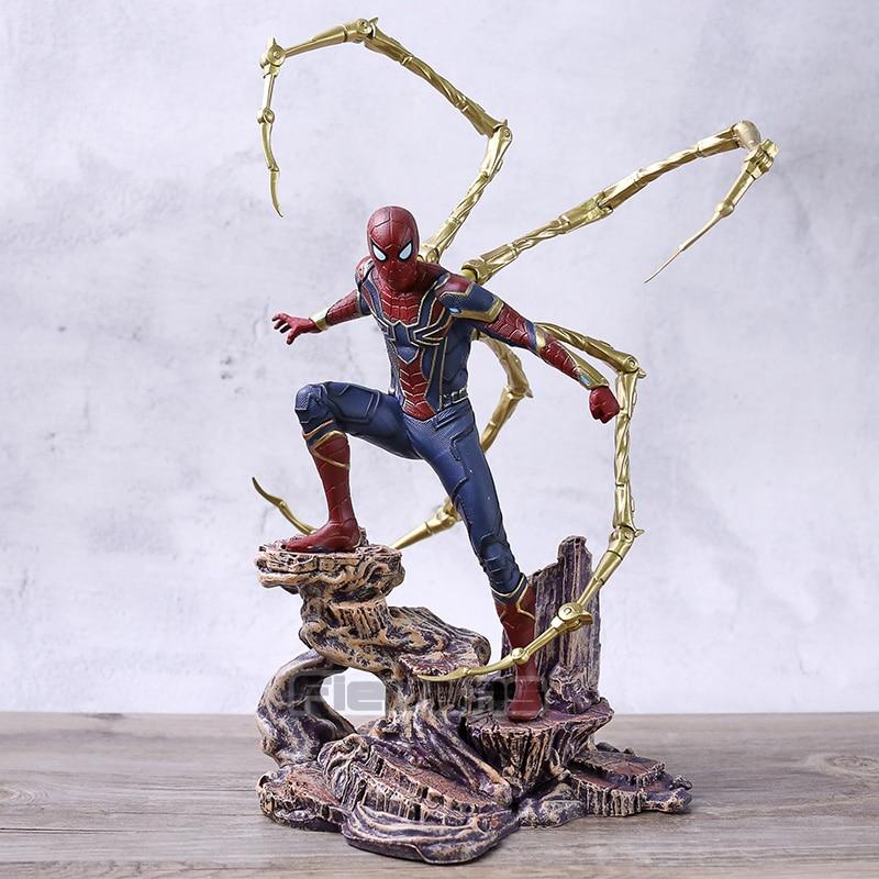 Galerie Marvel Avengers infini guerre Spiderman fer araignée Statue Figure Collection modèle jouet