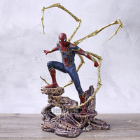 Marvel Gallery Avengers Infinity War Spiderman Iron Spider Statue Figure Collection Model Toy