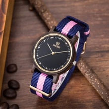 Top Quality Fashion Dress wooden Watches women s Luxury Bamboo Wood Watch Quartz Nylon Wristwatches as