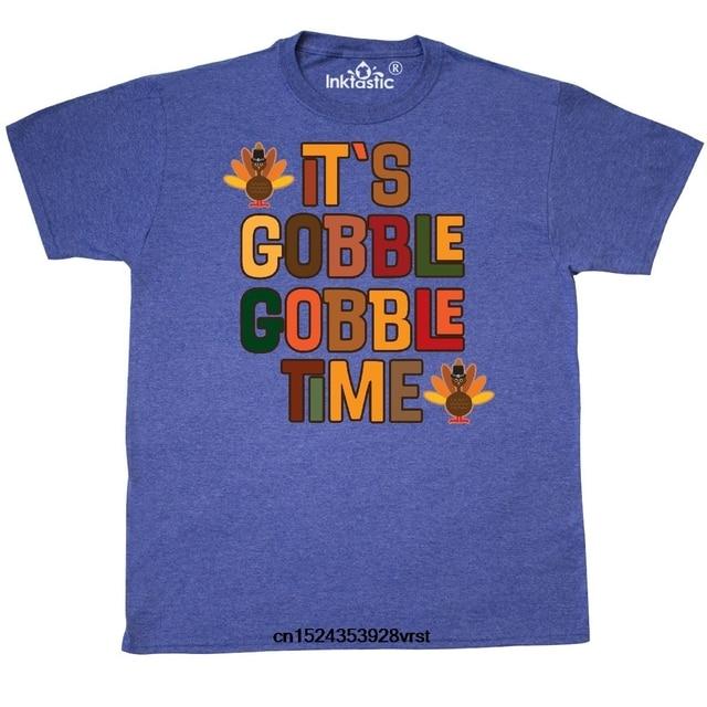 93ba8e003 Funny men t shirt novelty tshirt women Thanksgiving Gobble Time Turkey T- shirt