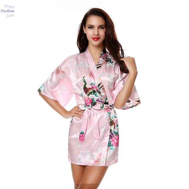 Кимоно Халат с Поясом Пижамы Женщины Японский Юката Атласная Винтаж Одеяние Сексуальное Белье Горячая Гейши Пижамы Плюс Размер 25A