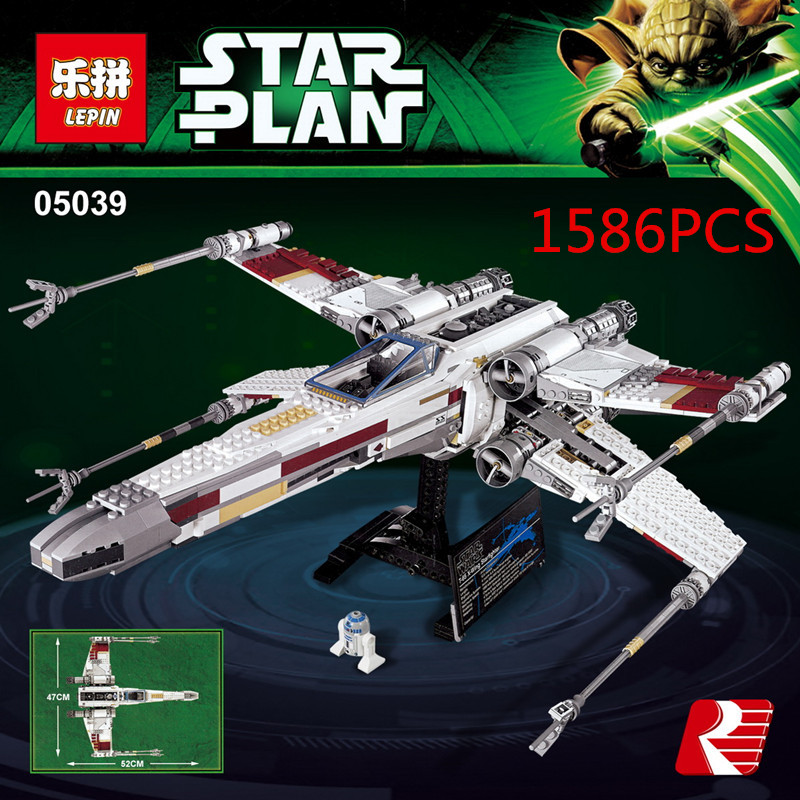 Lepin 05039 Star cool war 1586 Red Five X Star Fighter Wing Modul Brick Toy kompatibel mit 10240 Toy Gifts