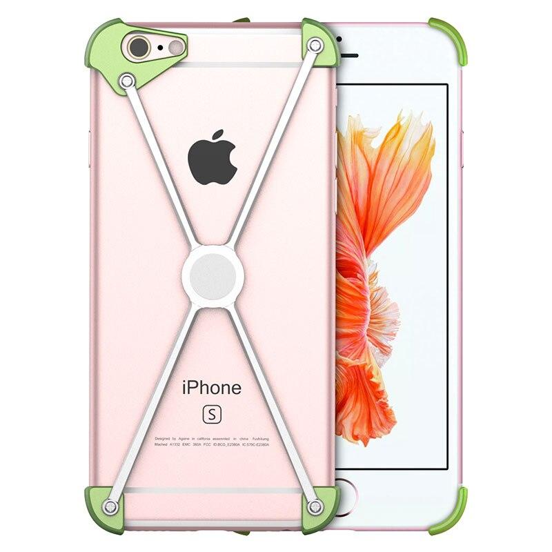 Cool X-Hommes En Métal Pare-chocs pour iPhone 7 7 Plus 6 s 6 5S 5 Magnétique Couverture En Aluminium Cadre vis Sécurisé Antichoc Téléphone Cas