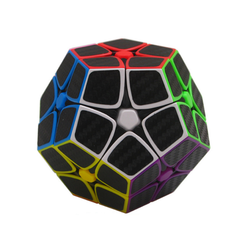 Zcube 2x2x2 3x3x3 Carbon Fiber Sticker Speed Magic Speed Cube Megaminx Educational Learning Toy Puzzle Carbon  Cube Magico Cubo