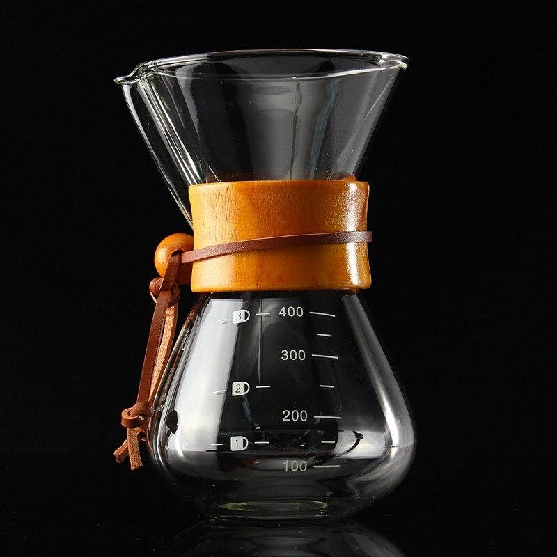 400 ml/3 כוסות קלאסי הכנת זכוכית אספרסו קפה טפטף קפה קרח טפטוף קר percolators בית קפה כלי