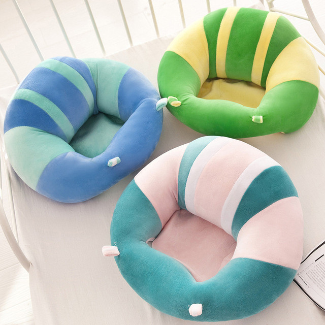 New Baby Support Seat Dining Chair Sofa Safety Cotton Plush Travel Car Seat Pillow Cushion Baby Nest Puff Plush Toys 4