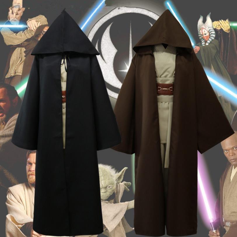 Adult Star Wars Jedi Knight Obi Wan Kenobi Cosplay Costume Cloak Halloween