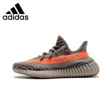 Adidas Yeezy 350 V2 Orange Original Men's Running Shoes New Arrival Comfortable Comfortable Sneakers # BB1826