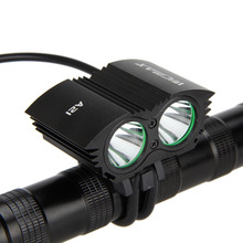 Real 6000LM 2X XML U3 LED Bicycle Light Front Cycling Led Black Bike Light Lamp Headlight Bicycle Accessories Headland Laser