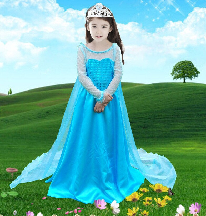 Free Shipping Kids Dress 2014 Infantil Frozen Costume Elsa Dress Fantasy Children Movie Cosplay Costume-in Anime Costumes from Novelty u0026 Special Use on ...  sc 1 st  AliExpress.com & Free Shipping Kids Dress 2014 Infantil Frozen Costume Elsa Dress ...