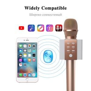 Image 5 - מקצועי Bluetooth אלחוטי מיקרופון קריוקי מיקרופון רמקול כף יד מוסיקה נגן מיקרופון שירה מקליט KTV מיקרופון