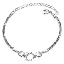TJP Trendy 925 Sterling Silver Women Bracelets Jewelry Charm Cat Design Girl Anklets Party Accessories Lady Gift