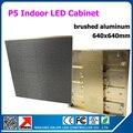 0.64 м x 0.64 м золотой матовый алюминиевый P5 крытый из светодиодов видеостены полноцветный P5 из светодиодов шкаф с получения карты 1/16 сканирования