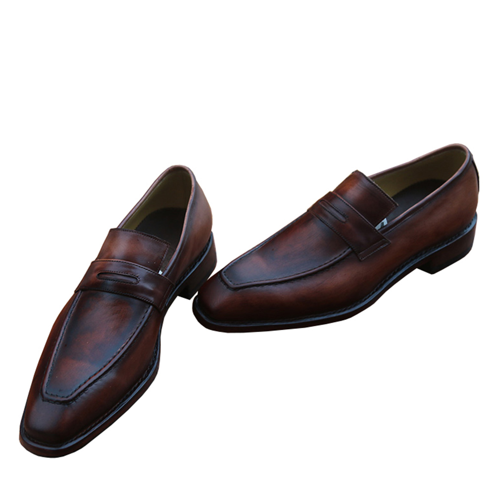 Moccasin Goodyear Vestido Deslizamento Costume Mocassins Sapatas A Luxo Negócios B Em S7609 s7609 45 Sapatos Sipriks s7609 C Europeu De Welted Italiano Mens Formal Patina FqdFO