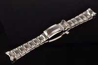 20mm New Luxury Silver Middle Half Polished Brushed 316L Solid Stainless Steel Metal Curved End Watch