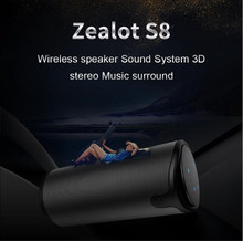 ZEALOT S8 Portable Speaker Tough Control Bluetooth Speakers HiFi 3D Stereo Wireless Subwoofer Support TF Card AUX цена и фото